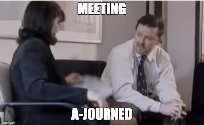 meeting a-journed