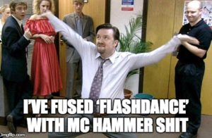 mc hammer with flashdance