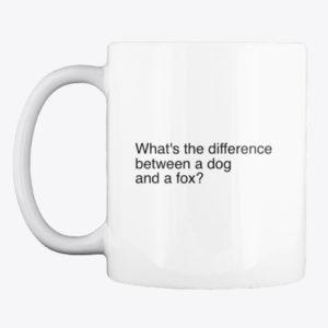 dog and fox mug